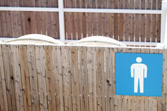 Public toilet for male. Man toilet sign Royalty Free Stock Photography
