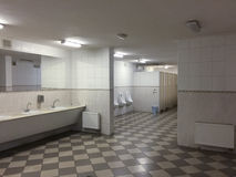 Public toilet in marble, soviet style, in Kiev, Ukraine royalty free stock image
