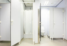 Public toilet for men and shower Royalty Free Stock Photos