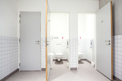 Public toilet for men and shower Royalty Free Stock Images