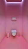 Public toilet in a modern loft style. Minimalism, toilet, brush, Stock Photography