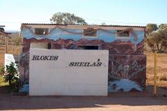 Public toilet outback Australia Royalty Free Stock Photography