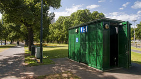 Public toilet in park Stock Image