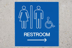 Public toilet sign Royalty Free Stock Images
