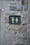 Public toilet sign. Royalty Free Stock Photos