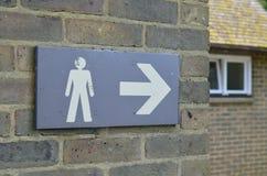 Public toilet sign. Stock Photo