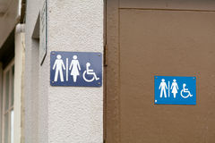 Public toilet signs Stock Photography