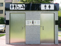 Public toilet on the street - Front view Stock Images