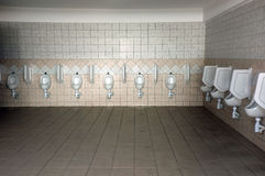 Public toilet and with urinals Stock Images
