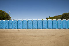 Public toilets. In a row Royalty Free Stock Photography