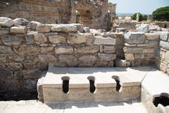 Public Toilets of Ephesus Ancient City Royalty Free Stock Images