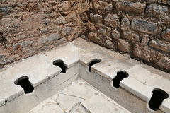 Public Toilets of Ephesus Ancient City. In Izmir, Turkey stock photography