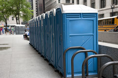 Public Toilets on Road Royalty Free Stock Photo