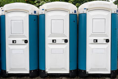 Public toilettes outside Stock Images