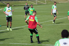 Public training session of Borussia Monchengladbach Royalty Free Stock Image
