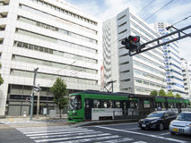 Public tram transportation in Hiroshima. City, Japan Royalty Free Stock Image
