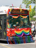 Public Transit Bus in Captial Pride Parade Royalty Free Stock Photography
