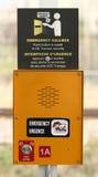 Public Transit Emergency Callbox Stock Photo