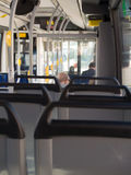 Public Transport. Elderly couple in a bus Stock Images