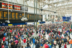 Public transport. Overcrowding at Waterloo Station as up to 1,000,000 people arrive for the Queen Elizabeth II Diamond Jubilee Pageant in London, UK on June 3 Stock Images