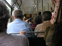 Public transport. Streetcar scene stock image