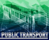 Public transport Abstract concept digital illustration Royalty Free Stock Photos