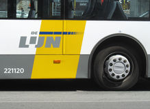 Public Transport Belgium. AALST, BELGIUM, JUNE 24 2014: A bus of De Lijn, the company run by the Flemish government in Belgium to provide public transportation Stock Photo