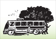Public transport_bus Royalty Free Stock Photos
