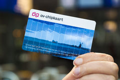 Public transport card the Netherlands Stock Image