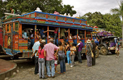 Public Transport, Chiva Busses, Colombia. Colorful chiva busses, typical mean of transport in rural Colombia royalty free stock photography