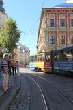 Public transport of the city of Lviv Royalty Free Stock Photos