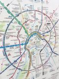 Transport map in Moscow stock photography