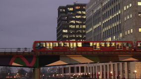 Public transport DLR in London stock footage