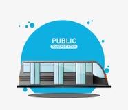 Public transport electric train Royalty Free Stock Photos