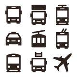 Public transport icons isolated on white background Royalty Free Stock Image