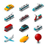 Public Transport Icons Set Royalty Free Stock Photo
