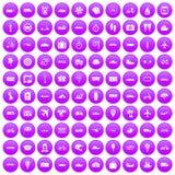 100 public transport icons set purple. 100 public transport icons set in purple circle isolated vector illustration vector illustration