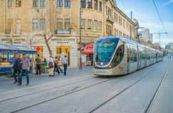 The public transport in Jerusalem Royalty Free Stock Photos