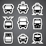 Public transport label Stock Photos