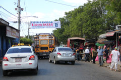 Public transport in Leon, Nicaragua royalty free stock photography