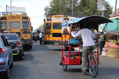 Public transport in Leon, Nicaragua stock photography