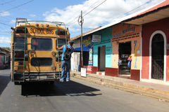 Public transport in Leon, Nicaragua royalty free stock photo