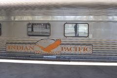 Public transport by long distance Indian Pacific train, Australasian Royalty Free Stock Photo