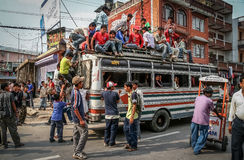 Public transport in Nepal Royalty Free Stock Images