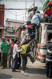 Public transport in Nepal Stock Images