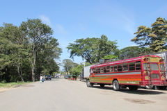 Public transport in Nicaragua stock image