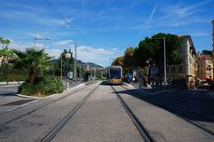Public transport of Nice, France royalty free stock photography