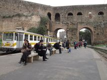 Public transport in Rome, Italy stock photos