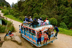 Public transport in rural Colombia. Colorful chiva bus, typical mean of transport in rural Colombia Royalty Free Stock Images