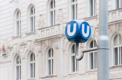 Public transport sign in Vienna, Austria Stock Photo